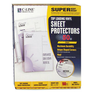 Super Heavyweight Vinyl Sheet Protector Clear 2 Sheets 11 X 8 1 2 50 bx