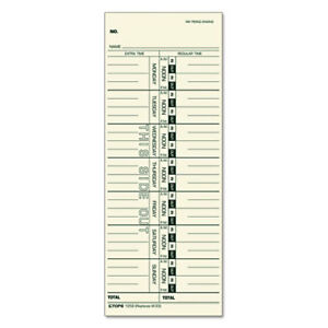 Time Card For Acroprint ibm lathem simplex Weekly 3 1 2 X 9 500 box