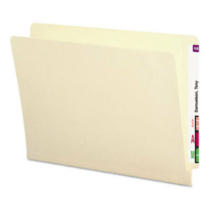 Antimicrobial File Folders Straight End Tab 11 Point Letter Manila 100 box