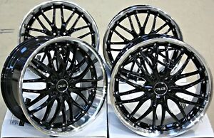 Alloy Wheels 18 Cruize 190 Bp Black Polished Deep Dish Staggered 5x112 18 Inch