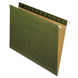 Hanging File Folders No Tabs Letter Standard Green 25 box
