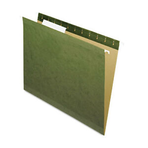 Hanging File Folders 1 3 Tab Letter Standard Green 25 box