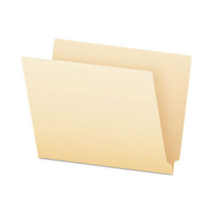 End Tab File Folders Straight Tab Letter Manila 75 box