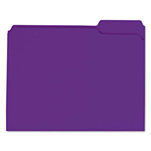 Colored File Folders 1 3 Cut Assorted Two ply Top Tab Letter Violet 100 box