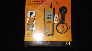 Anemometer Air Flow Volicity And Tempeterature Meter