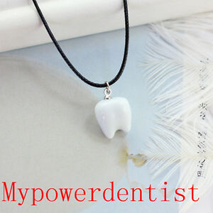 Teeth Necklace Dental Dentist Girls Neck Fashion Jewelry Necklet Christmas Gift