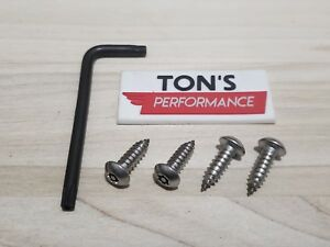 Anti Theft Security Screws Ford License Plate Stainless Steel Car Truck Domestic