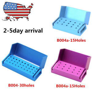 1 5 10pcs Dental Opening Burs Holder Disinfection Aluminum Endo Block Box In Usa