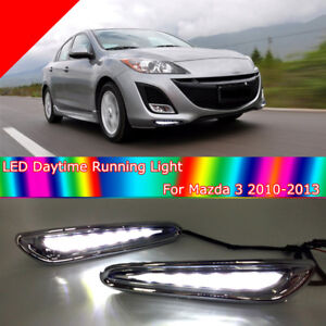 Led Daytime Running Light For Mazda 3 Axela Car Fog Lamp Drl 2010 2011 2012 2013