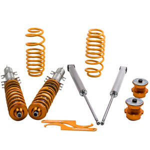 Street Coilovers Suspension Lowering Kit For Vw Volkswagen Golf Mk4 1 9 Tdi Fwd