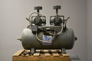 Ohio Medical Air Compressor W twin Gast Air Compressors 32 Gal With Air Dryer