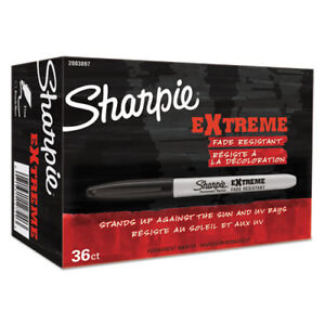 Extreme Permanent Markers Office Pack Fine Black 36 pk