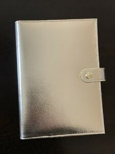 Bnib Kikki K A5 Gold Leather Refillable Notebook Planner
