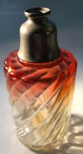 Antique Baccarat Cranberry Red Perfume Atomizer Bottle