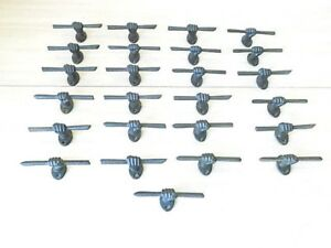 25 Cast Iron Hand And Stick Brown 5 Ornate Drawer Pulls Cabinet Bin Handles