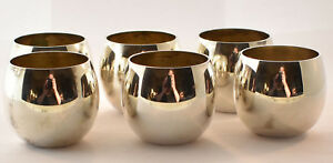 Tiffany Co Makers Sterling Silver Sake Liquid Shot Cups Set Of 6