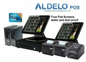 Aldelo Pos Pro Complete Computer Pos System W Kitchen Printer 5 Years Warranty