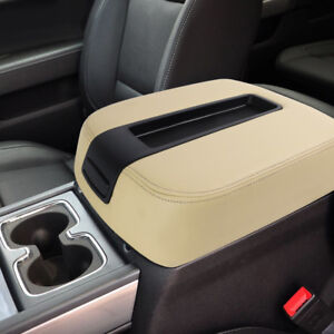 Tan Center Console Lid Armrest Cover Replaces For 2007 2014 Silverado sierra