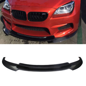 Matt Black Front Bumper Lip Spoiler Fit For Bmw F06 F12 F13 M6 Bumper 2014 18