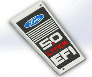 Ford 5 0 Liter Efi Intake Plaque Plate Replica Sbf 302w Foxbody Mustang Gt Lx