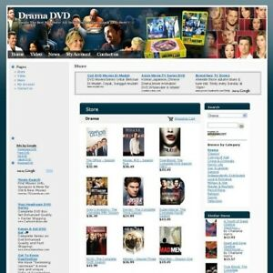 Established Drama Movie Online Store Business Website For Sale Free Domain Name