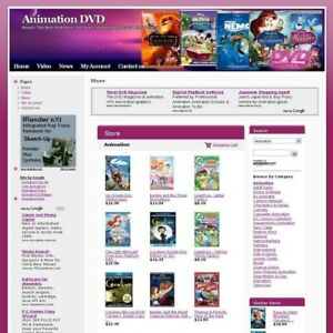International Online Animation Dvd Business Website For Sale Free Domain Name