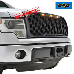 Eag F150 Replacement Upper Grille Abs Mesh Grill W Led For 09 14 Ford F 150