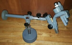 A j Griner Bausch And Lomb Stereo Zoom Microscope On Boom Stand