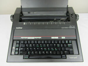Brother Model Ax 24 Electronic Typewriter Word spell Built In 6k Word Dictionary