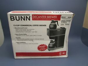 New Bunn 12 cup Commercial Coffee Brewer 33200 0017 Vpr Blk W 2 Glass Decanters