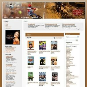 Established Sports Dvd Store Online Business Website For Sale Free Domain Name