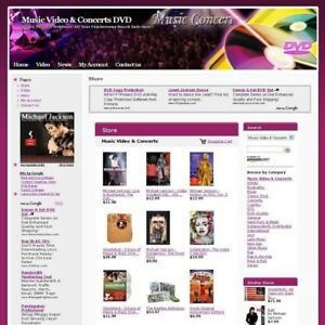 Music Video Concerts Dvd Online Business Website For Sale Free Domain Name