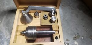 Royal Lathe Live Center 6 Point W 2mt Shank With Case And Wrench