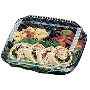 Pactiv Clearview Smartlock Food Containers 3 compartments case Of 200
