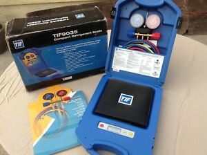 New Tif Compact Refrigerant Scale In Case Box Tif9035 Portable Manifolds Hoses