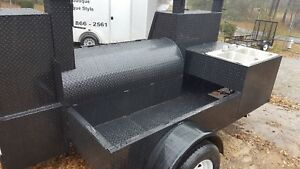 Sink Setup Bbq Smoker 36 Grill Trailer Catering Food Cart Truck Business Vending