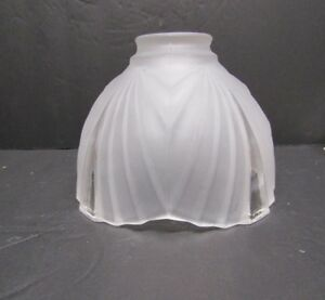 Glass Wide Panel Art Deco Fixture Shad With A Fitter