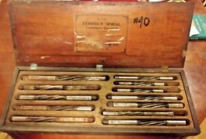 Vintage Reiff Nestor Hand Expansion Reamer Set With Wooden Box Rare 12 Pieces