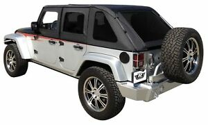 Soft Top Black Frameless Top Rampage 07 18 For Jeep Wrangler Unlimited 4 Door
