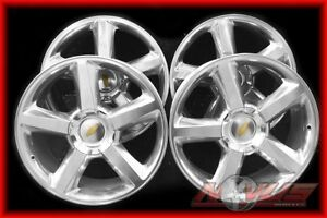 New 22 Chevy Tahoe Ltz Silverado Gmc Yukon Polished Oem Factory Wheels 20 18