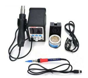 220v Yihua 995d 2 In 1 720w Lcd Smd Rework Station With Soldering Iron