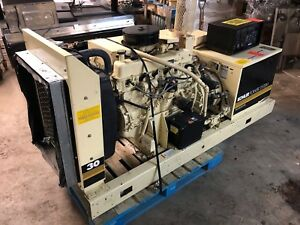 Kohler 30rz82 Natural Gas Industrial Commercial 30kw Generator 787 Hours Muffler