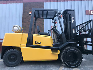 Yale Glp110 11 000lb Pneumatic Forklift Lift Truck