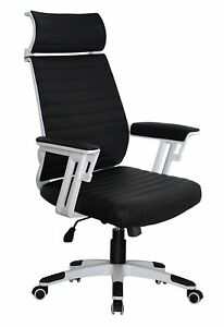 Executive Contemporary Office Chair With Attached Headrest Ergonomic Comfort