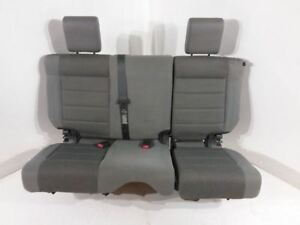 2007 2018 Jeep Wrangler Jk Sahara Rear Split Bench Seat Cloth Gray