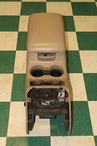 03 07 Expedition Oem Tan Center Floor Console W Leather Armrest Lid Trim Panel