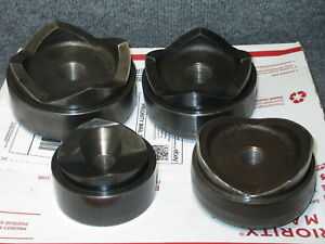 Greenlee 7304 4 pc Knockout Punch Die Set For 2 4 For Hydraulic 767 746