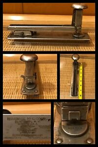 1930s Markwell Rf1 Stapler Metal Industrial Commercial Long Heavy Vintage 8