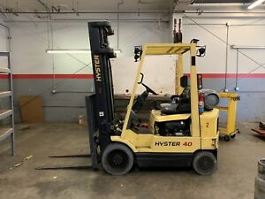 Hyster S40xm Forklift 3 Stage Side Shift Solid Tire Toyota Clark Propane Lbs