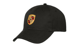 Genuine Porsche Flex Fit Hat Crest Cap Oem Black Wap5900010j